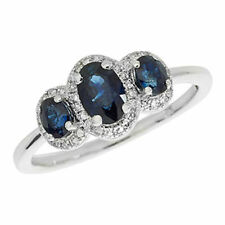 Unbranded Sapphire Three-Stone Fine Rings