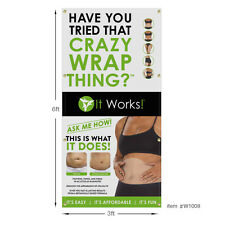 It Works Global Wraps Banner 3x6 ft (36x72 inch) Outdoor or Indoor Use.