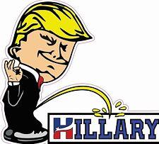 Anti Hillary Pee on HILLARY LARGE bumper sticker #273