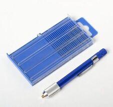New 21pc Mini Micro-Drill Bits Set Index 61-80 w/ Aluminum Hand Drill US SHIPPER