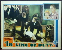 Sue Carol In Line of Duty ORIGINAL 1931 Lobby Card Royal Canadian Mounted Police