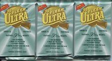 LOT of 3 1994 Fleer ULTRA Football SUPER Packs Series 2