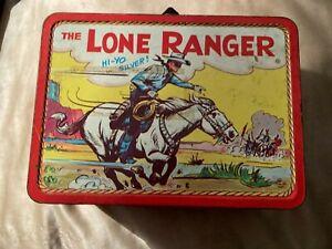 Lunch Box Vintage The Lone Ranger & Tonto Hi-Yo Silver! 1954 Adco