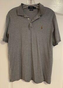 POLO Ralph Lauren Gray Short Sleeve Classic Fit Cotton Polo Shirt M