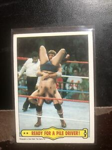 1985 Topps WWF Ready for a Pile Driver #42 Paul Orndorff