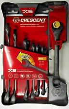 Crescent Cx6rws7 7pc X6 Ratcheting Open End Amp Static Box End Combination Wrench