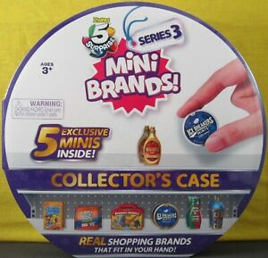 Zuru Mini Brands ~ Series 3 ~ Collector Case ~ NEW UNOPENED w/Extra Pcs That Fit