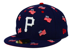 Pittsburgh Pirates New Era MLB All Flags 59FIFTY Fitted Hat Cap - 7 1/4