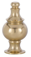 B&P Lamp® Turned Brass Spindal Finial