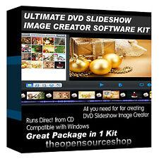 Profesionales de presentación de diapositivas software Kit de crear y reproducir imágenes en tu reproductor de DVD