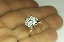 ENGAGEMENT RING WITH 5.00 CT ROUND BRILLIANT CUT 6 PRONG SET IN 14K YELLOW GOLD