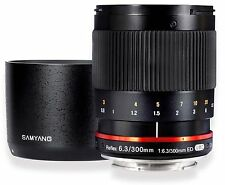 Samyang 300mm F6.3 Mirror Lens for Sony E-Mount & Sony NEX - Black - New!