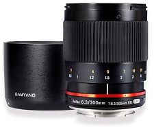 Samyang 300mm F6.3 Mirror Lens for Canon EOS M - Black - New!