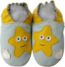 shoeszoo starfish light blue 12-18m S soft sole leather baby shoes