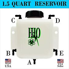 1.5 Quart HHO Heavy Duty Bubbler / Reservoir with Fittings & Cap