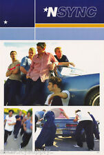 POSTER - MUSIC : N SYNC - COLLAGE WITH BLUE CAMARO  - FREE SHIP #7504    RW5 O
