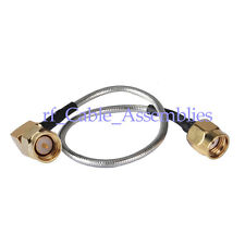 Wifi antenna extension cable SMA male RA to RP SMA male pigtail cable RG405 10cm