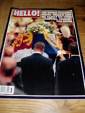 HELLO MAGAZINE 475 13 Sept 1997 PRINCE & FAMILY ON FAREWELL JOURNEY FOR DIANA