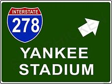 Mini Interstate Sign - New York i278 YANKEE STADIUM, New York,  baseball, decor