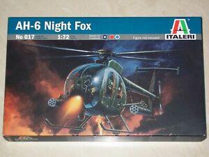 Hughes AH-6 Night Fox - ITALERI 1:72 scale Plastic Model Helicopter Kit