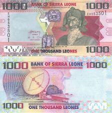 1000 Sierra Leona huido billete P-nuevo 2013 Sierra Leona UNC