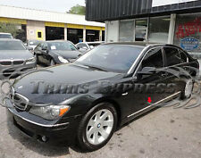 "2002-2008 BMW 745 7-Series 6Pc Body Side Molding Trim Stainless Steel 1"" Door"