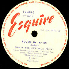 SIDNEY BECHET'S BLUE FOUR Blues in Paris / Panther.. Schellackplatte 78rpm X3422