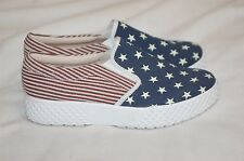 Mojo Moxy American Flag Canvas Sneakers Shoes Size 7.5 M