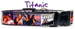 "Titanic dog collar Movie handmade adjustable buckle 1"" wide or leash"
