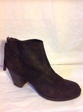 Mango Dark Brown Ankle Suede Boots Size 7