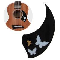 Ukulele Pickguard 26'' Tenor Hawaii Guitar Scratch Plate Adhesive Soft Black