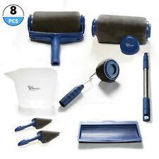 Whoops Set di Rullo per Pittura Senza Cuciture 8 Pezzi - Blu