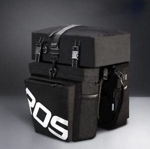 ROSWHEEL14892 Bicycle Cycling Bike 3 in 1 Water-Resistant Pannier Bag Rear Pack