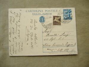 CARTOLINA POSTALE POSTA AEREA DA CENT. 70 + CENT. 50 LUOGOTENENZA AGOSTO 1945