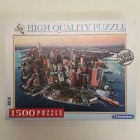Clementoni 1500 Piece Jigsaw Puzzle New York Manhattan Art 97694 Fully Complete