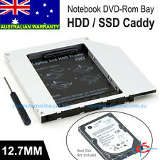 JEYI Notebook 12.7mm SATA CD ROM Optical Drive Bay for 2nd Hard Drive Caddy Tray