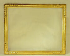 Antique Circa 1920 Gilt Hand Carved Arts & Crafts Picture Frame 24 x 30 in.