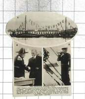 1920 HMS Vindictive Now The Property Of Belgium, Changes Flags