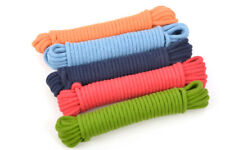 More details for assorted 5 pack -  everlasto 10m coloured cotton 10mm magicians rope soft cotton