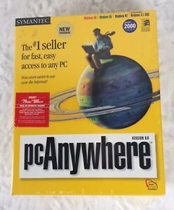 New Symantec pcAnywhere Version 9.0 Year 2000 Compliant Windows 98 95 NT 3.1/DOS