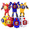 Kid Manual Transformation Robot Toys Electronic Watch Deformed Robot Toy 4 Color
