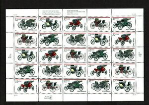 Antique Automobiles - Collection of 5 Plate Block with 25 stamps 1995 issued