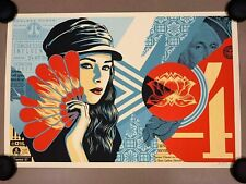 Fan the Flames Shepard Fairey Obey Art Print Poster Edition LE 550 in Hand