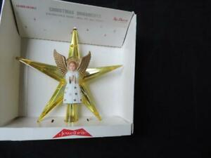 VINTAGE JEWELBRITE ANGEL CHRISTMAS TREE TOPPER~MIOB