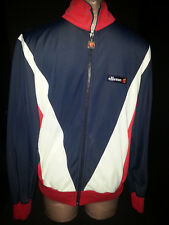 ELLESSE Mens Womens Jogging Track Sweat Jacket Coat Size S Small Red Blue ITALY