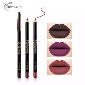12 Colors Matte Lipliner Lip Pencils Waterproof Smooth Colorful Silk Nude 1 pc
