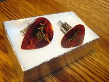 Guitar Pick Cuff links Silver Plated Fender Classic Jazz 551 Extra Heavy Shell
