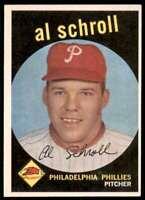 1959 Topps Al Schroll Philadelphia Phillies #546