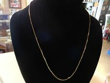 """ITALY 10k KT Yellow Gold Venetian Box Square Style 20"""" Long 2.50 Grams Chain"""