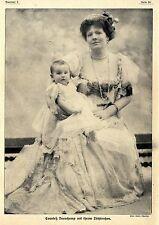 Phot Lalli Charles: Counteß Beauchamp mit ihrem Töchterchen 1913